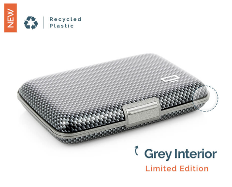 Ogon Stockholm Card Case RFID Safe - Taffeta/Grey Interior (Limited Edition)