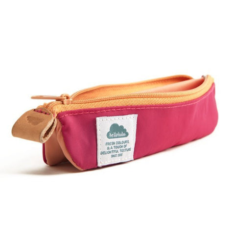 Hellolulu Ivo Pencil Case (small) - Deep Pink / Salmon - oribags2 - 1