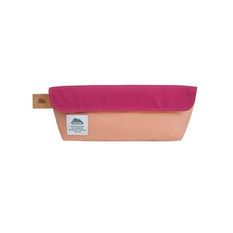 Hellolulu Zoee Pencil Case (medium) - Deep Pink / Salmon - oribags2 - 1