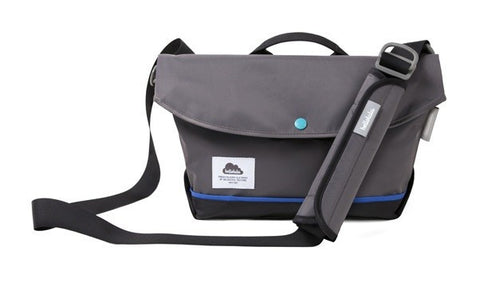 Hellolulu Harper Nylon iPad All Day Messenger Bag - Charcoal - oribags2 - 1