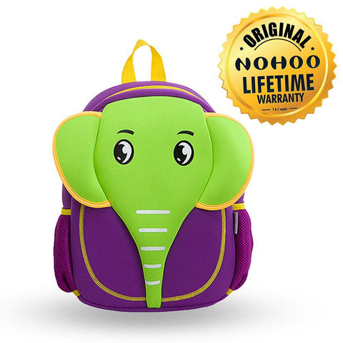 Nohoo Kids Backpack Elephant Design - Purple