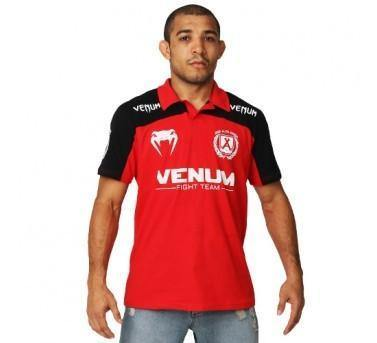 "VENUM ""JOSÉ ALDO JUNIOR SIGNATURE"" POLO - RED/BLACK - MMAoutfit - 1"
