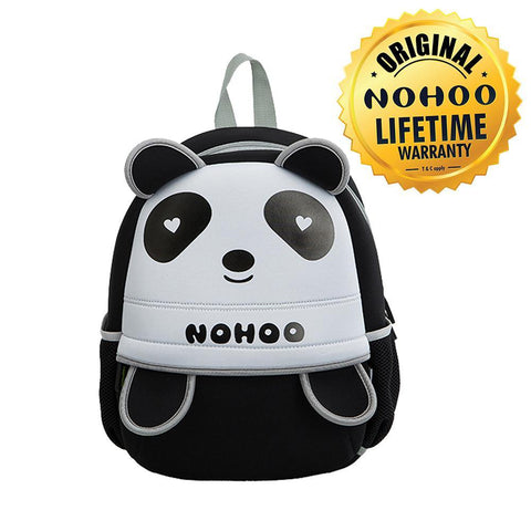 Nohoo Kids Backpack Panda Design - Black