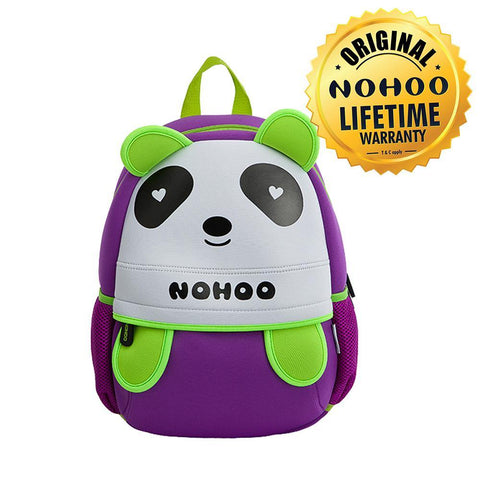 Nohoo Kids Backpack Panda Design - Purple