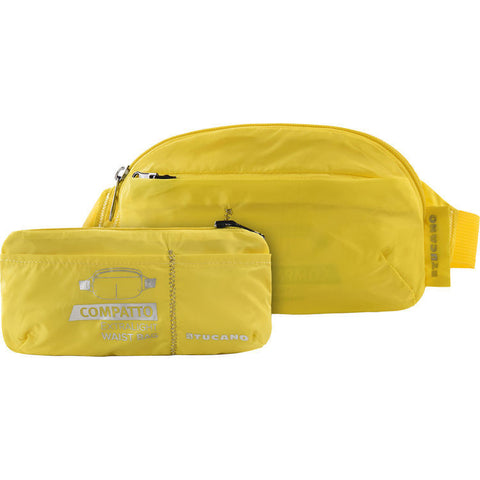 Tucano COMPATTO MINI SUPER LIGHT COMPLETELY FOLDABLE WAIST BAG - Yellow - oribags2 - 1