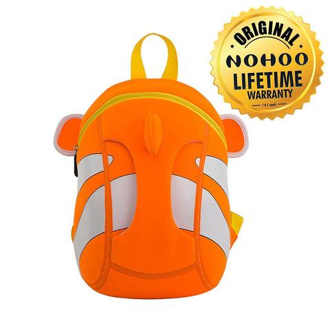 Nohoo Kids Backpack Clown Fish Design - Orange