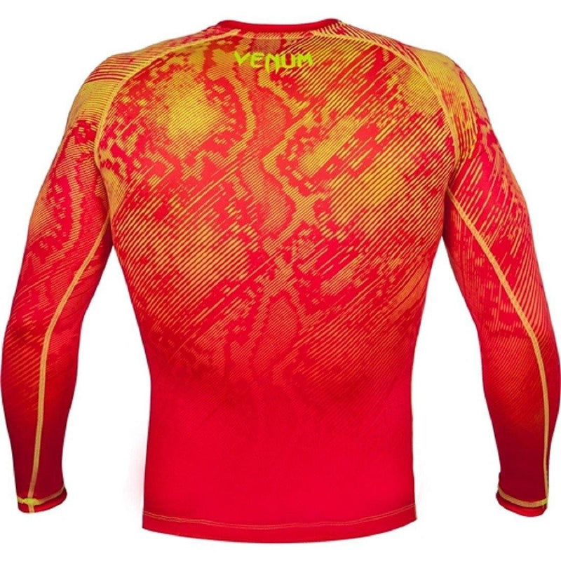 VENUM FUSION COMPRESSION T-SHIRT - LONG SLEEVES - ORANGE/YELLOW - MMAoutfit - 2