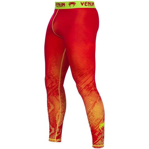 VENUM FUSION COMPRESSION SPATS - ORANGE/YELLOW - MMAoutfit - 1