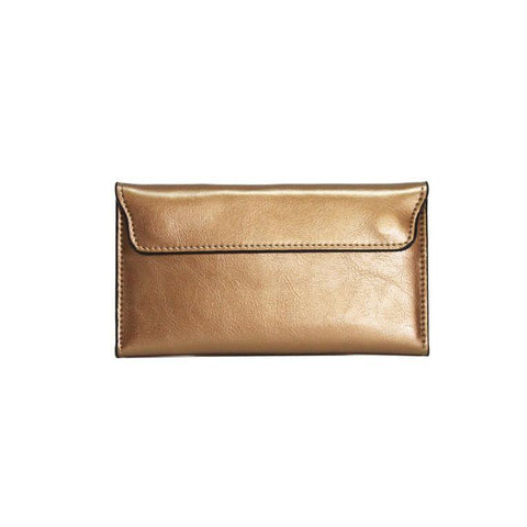 Dazz Calf Leather Magnetic Flap Wallet - Bronze