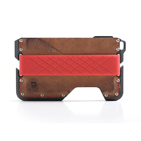 Dango Products D01 Dapper Wallet - Rawhide / Red Stitching / Slate Grey