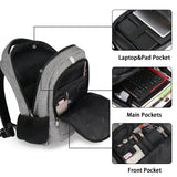 "Matein NTE Anti-Theft Laptop Backpack w/ Charging Port (Fits Up to 15"") - Grey"