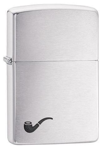Zippo Pipe Brushed Chrome Windproof Lighter (200PL)