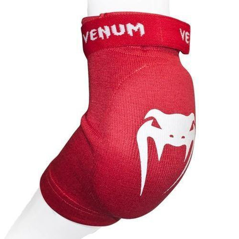 "VENUM ""KONTACT"" ELBOW PROTECTOR COTTON - RED - MMAoutfit"