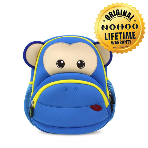 Nohoo Kids Backpack Ape Design - Blue
