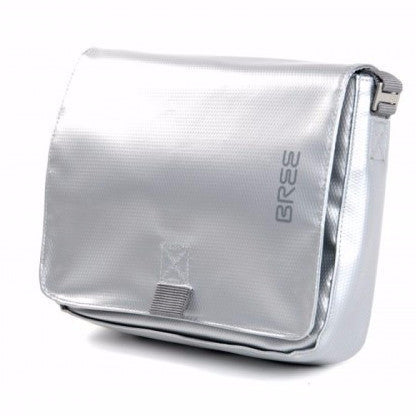 "Bree Punch 49 13"" Laptop Messenger Bag - Silver - Oribags Sdn Bhd"