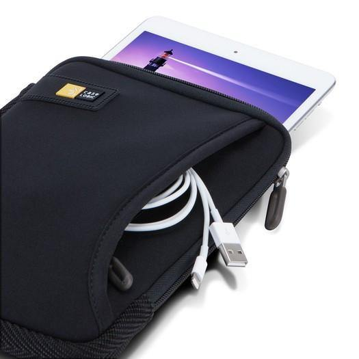 "Case Logic iPad mini / 7"" Tablet Sleeve with Pocket TNEO108 - Black - oribags2 - 5"