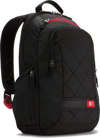 "Case Logic Sporty Polyester 14"" Backpack DLBP114 - Black - oribags2 - 1"