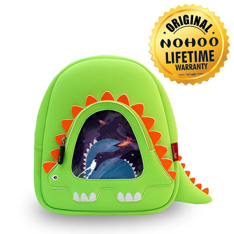 Nohoo Kids Backpack Stegosaurus Design - Green