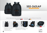Bagman S02-262LAP-05 Laptop Backpack - Black/Orange