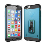 Armor-X Shockproof Rugged Case w/ Kick Stand & X-Mount for iPhone 6/6s - Dynamic Blue - Oribags Sdn Bhd