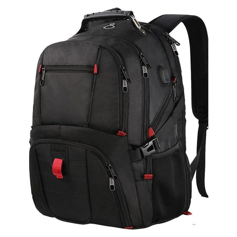 "Matein TSA Checkpoint Friendly Travel Backpack (Fits up to 17"" Laptop) - Black"