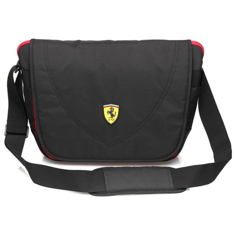 Ferrari Travelers Messenger Bag - Black - oribags2