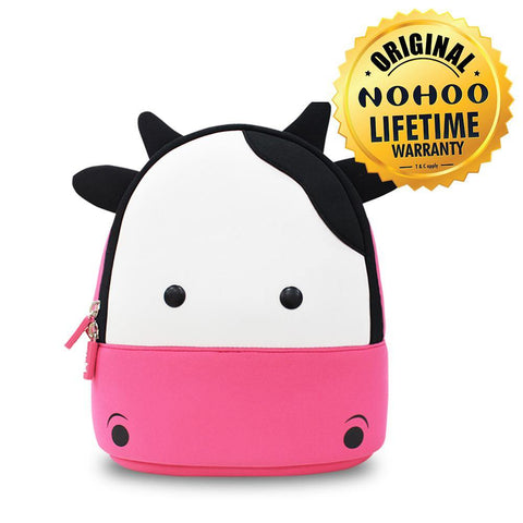 Nohoo Kids Backpack Cow Design - Pink