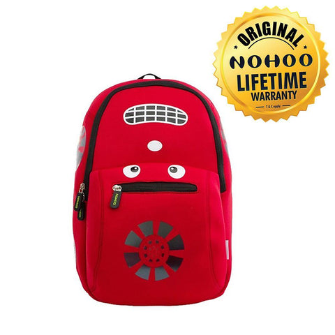 Nohoo Kids Backpack Racing Car Design - Red