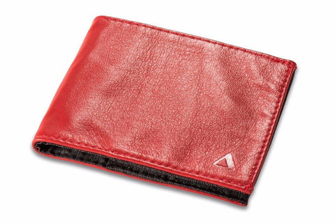 Allett Classic Leather Sport Wallet - Red - Oribags Sdn Bhd