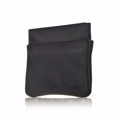 Allett Classic Leather Coin Purse - Black - Oribags Sdn Bhd