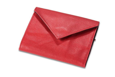 Allett Classic Leather Womens Original Wallet - Red - Oribags Sdn Bhd