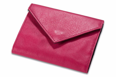 Allett Classic Leather Womens Original Wallet - Fuchsia - Oribags Sdn Bhd