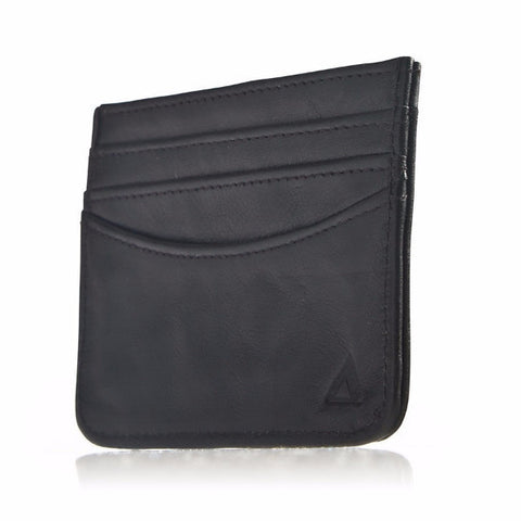 Allett Classic Leather RFID Security Card Case - Black - Oribags Sdn Bhd