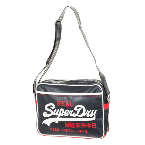 Superdry Mash Up Alumni Messenger Bag - Black - oribags2 - 1