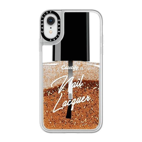 "Casetify Nail Lacquer iPhone XR 6.1"" Glitter Collection - Gold"