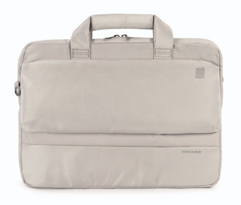 "Tucano Dritta X 13""/14"" Laptop Briefcase Bag - Silver - oribags2 - 1"