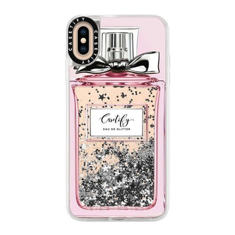 "Casetify Femme Eau De 2 iPhone XS Max 6.5"" Glitter Collection - Silver"
