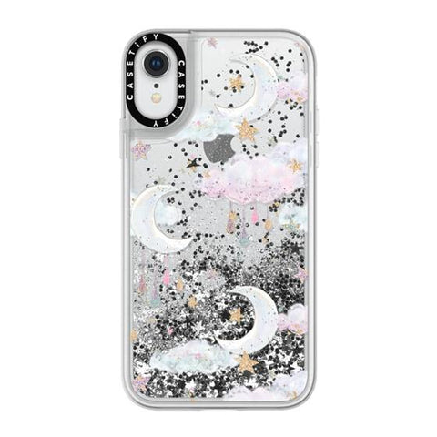 "Casetify Candy Cotton Clouds iPhone XR 6.1"" Glitter Collection - Silver"