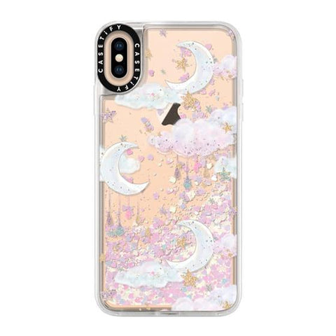 "Casetify Candy Cotton Clouds iPhone XS Max 6.5"" Glitter Collection - Unicorn Pastels"