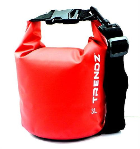 Trendz 3L Waterproof Dry Bag - Red - oribags2