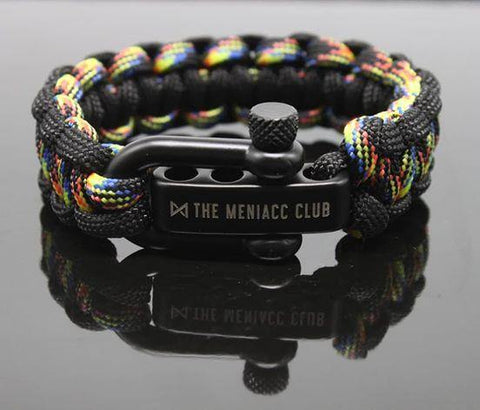 The Meniacc Survivalist Rugged Bracelet - Kaleidoscope