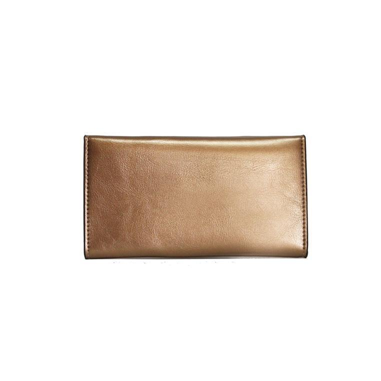 Dazz Calf Leather Magnetic Flap Wallet - Bronze - Oribags.com