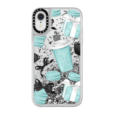"Casetify Mint Fashion iPhone XR 6.1"" Glitter Collection - Silver"