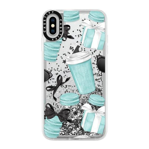 "Casetify Mint Fashion iPhone XS Max 6.5"" Glitter Collection - Silver"