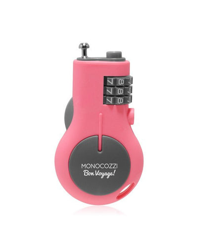 Monocozzi Bon Voyage Portable Retractable Lock - Pink - oribags2 - 1