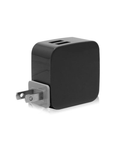 Monocozzi Smighty 4.2A Dual USB Wall Charger with Interchangeable Multinational Connectors - Black - oribags2 - 1