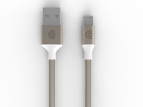 Griffin Premium Braided Lightning Cable 3M GC40906 - Gold - oribags2 - 1