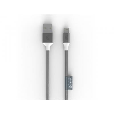 Griffin Premium Braided Lightning Cable 3M GC40905 - Silver - oribags2 - 1