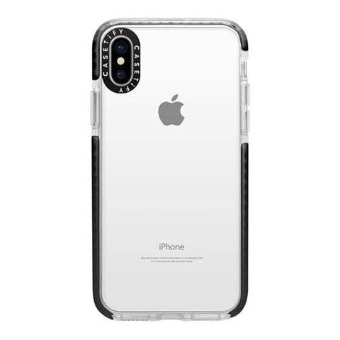 Casetify Clear iPhone X/XS Impact Collection - Black