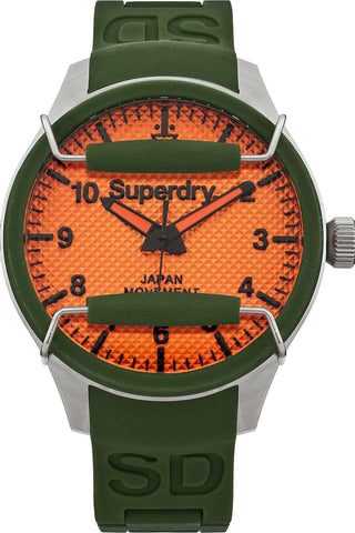 Superdry Green Silver Stainless Steel Scuba Rescue Watch - oribags2 - 1